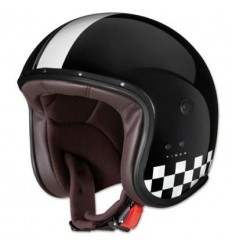 Casco Caberg Freeride Indy superleggero in fibra scacchi nero