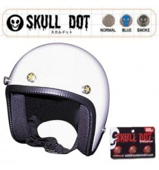 Set 3 bottoni da casco Skull Dot con grafica in vari colori