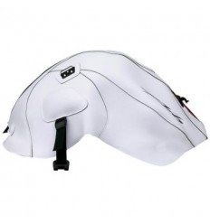 Copriserbatoio Bagster per Yamaha FZ6 Naked 05-09 in similpelle bianco e rosso