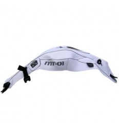 Copriserbatoio Bagster per Yamaha MT01 05-11 in similpelle bianco