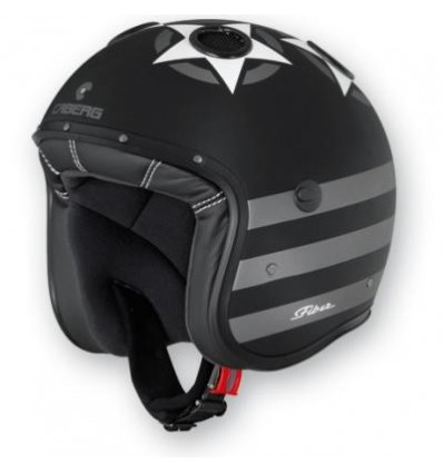 Casco Caberg Doom Patriot superleggero in fibra nero opaco e antracite