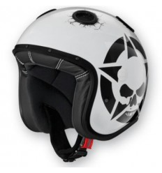 Casco Caberg Doom Darkside superleggero in fibra bianco lucido e nero