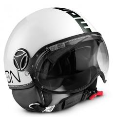 Casco Momo Design Fighter Classic antracite e bianco