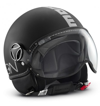 Casco Momo Design Fighter Classic bianco lucido e nero