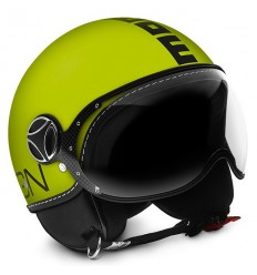 Casco Momo Design Fighter Fluo arancio opaco e nero