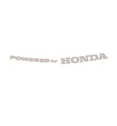 Adesivo Powered by Honda argento