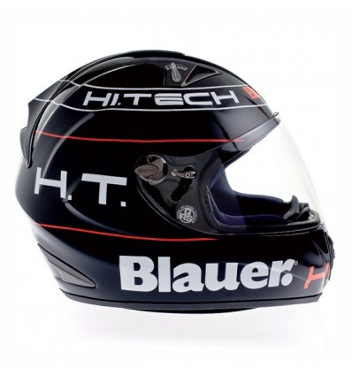 Casco Blauer Force One grafica BK nero lucido e bianco