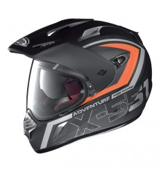 Casco X-Lite X551GT Adventure N-Com nero, arancio e carbon look