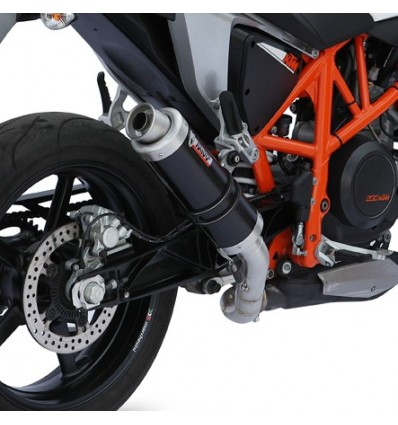 Terminale Mivv GP Steel Black per KTM Duke 690