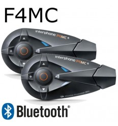 Interfono da casco Bluetooth Cellular Line F4MC doppio