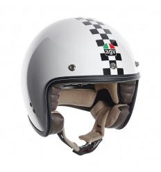 Casco Jet AGV RP-60 grafica Checker Flag bianco e nero