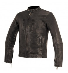 Giacca da moto in pelle Alpinestars Brass marrone