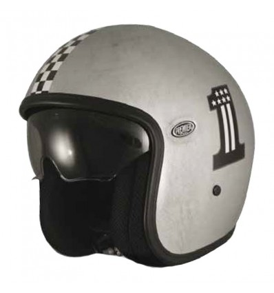 Casco Premier Jet Vintage grafica CK One Old Style Silver