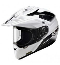 Casco Shoei enduro Hornet ADV Seeker TC6 bianco e nero