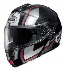 Casco Shoei Neotec apribile con accessori Imminent nero e argento