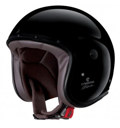 Casco Caberg Freeride superleggero in fibra nero lucido