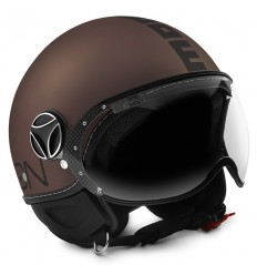 Casco Momo Design Fighter EVO tabacco frost e nero