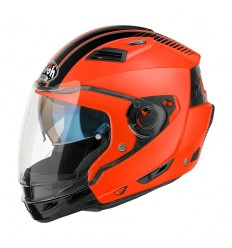 Casco Airoh modulare Executive Stripes arancio e nero