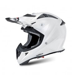 Casco Junior off-road Airoh Aviator J. Color white gloss
