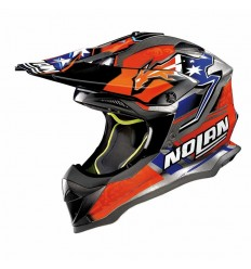 Casco off-road Nolan N53 Practice Replica C. Stoner Suzuka scratched chrome