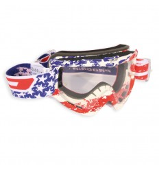 Maschera da cross Pro Grip 3303 Graphic line USA con lente antifog