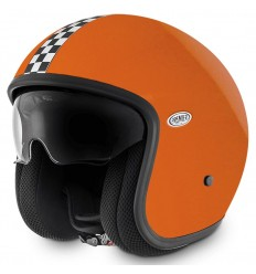 Casco Premier Jet Vintage grafica CK Orange