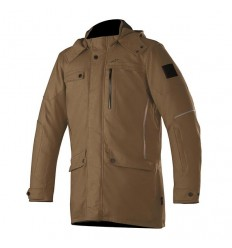 Giacca da moto Alpinestars Gordon DS Overcoat marrone