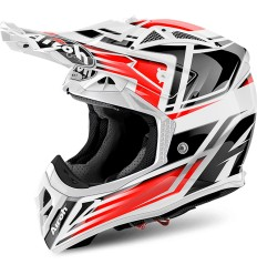 Casco Airoh enduro Aviator 2.2 grafica Restyle Red Gloss
