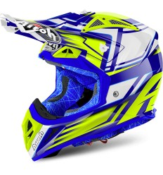 Casco Airoh enduro Aviator 2.2 grafica Restyle Yellow Gloss