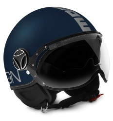 Casco Momo Design Fighter EVO blu opaco e argento