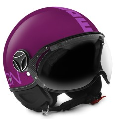 Casco Momo Design Fighter Classic viola opaco e rosa