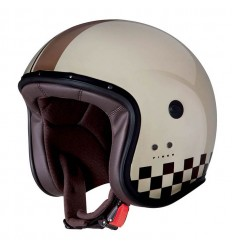 Casco Caberg Freeride Indy superleggero in fibra scacchi crema
