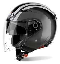 Casco Airoh City One Flash con doppia visiera antracite e bianco