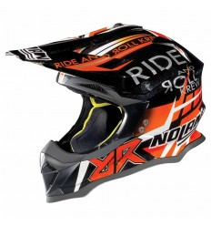 Casco off-road Nolan N53 Gemini Replica metal black