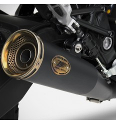 "Terminale Slip On Zard Zuma Racing in acciaio ""Dark"" per Ducati Scrambler 800 15-17"