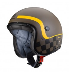 Casco Caberg Freeride Formula superleggero marrone opaco e giallo