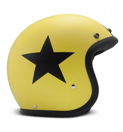 Casco DMD Helmets serie Vintage grafica Star Yellow