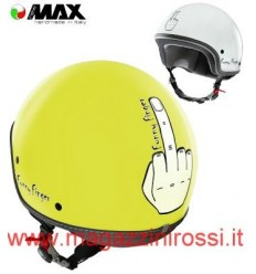 Casco New Max grafica Funny Finger giallo