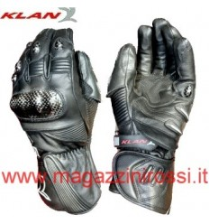 Guanti riscaldanti 12V Klan Racing Leather Gloves neri