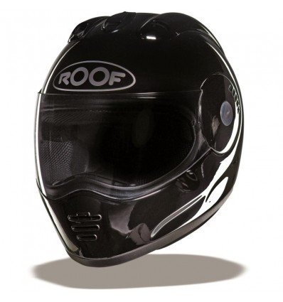 Casco Roof Panther nero lucido