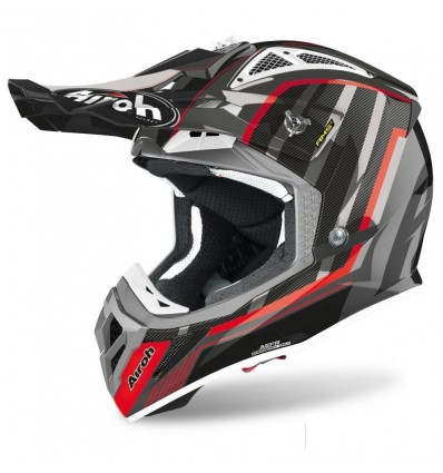 Casco Airoh enduro Aviator 2.3 AMS2 Glow Grey Chrome