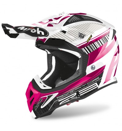 Casco Airoh enduro Aviator 2.3 AMS2 Novak pink chrome