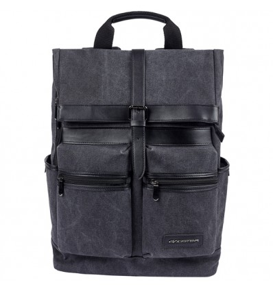 Zaino da moto Bagster District in cotone canvas e pelle