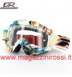 Maschera da cross Pro Grip 3303 Graphic line multicolor con lente antifog