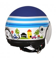 Casco Braccialini Helmets in grafica Speed Motor blu